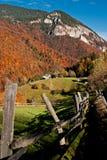 横向罗马尼亚村庄 免版税库存照片