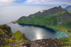 横向美丽如画的挪威 免版税库存照片