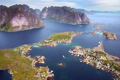 横向美丽如画的挪威 库存图片