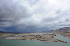 横向自然西藏 免版税库存图片