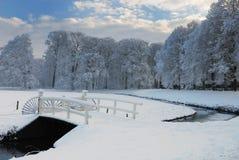 横向荷兰冬天 图库摄影