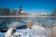 横向荷兰冬天 免版税库存图片