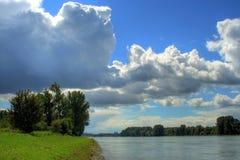 横向莱茵河 库存图片