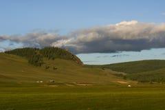 横向蒙古人山 库存照片