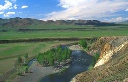 横向蒙古语 库存照片