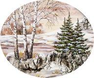 横向西伯利亚人冬天 图库摄影