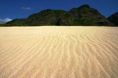 横向起波纹的沙子 免版税库存图片