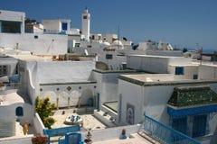 横向都市的突尼斯 图库摄影