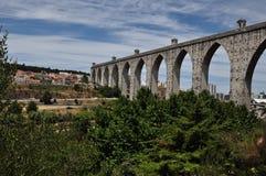 横向里斯本葡萄牙 免版税图库摄影