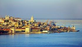 横向里斯本葡萄牙 库存照片