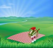 横向野餐 免版税库存照片