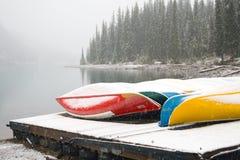 横向雪冬天 库存照片