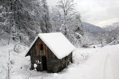 横向雪 库存照片