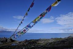 横向高原西藏 库存照片
