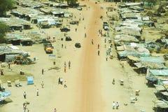 横向鸟瞰图在南苏丹 库存图片