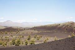 横向: 月亮的火山口 免版税库存图片