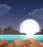 横向轻的月亮大篷车 库存图片