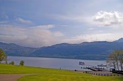 横向Loch Lomond 库存照片