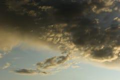 横向raincloud天空 图库摄影