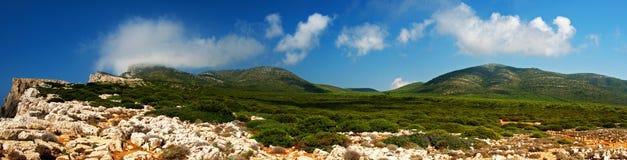 横向s撒丁岛 库存图片