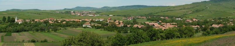 横向transylvanian村庄 库存照片