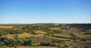 横向tuscania 库存照片