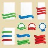 横幅、丝带和徽章 免版税图库摄影