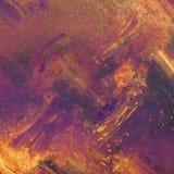 横幅上色曲线例证滤网没有彩虹向量空白 手画抽象的背景 在帆布的丙烯酸酯的绘的冲程 现代的艺术 3D作用 免版税库存图片