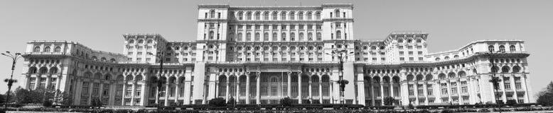 横幅与罗马尼亚人民宫的比例摄影从布加勒斯特,罗马尼亚 3 免版税库存图片