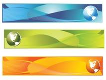 横幅世界 免版税图库摄影