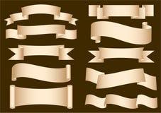 横幅丝带滚动 免版税库存照片