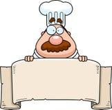 横幅主厨 库存照片