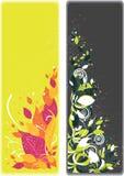 横幅书签花卉一集二 免版税库存照片