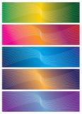 横幅五颜六色的向量 免版税库存照片