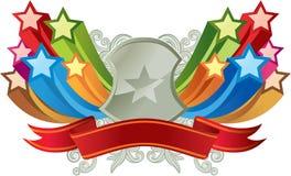横幅五颜六色的星形 免版税库存图片