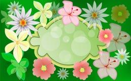 横幅五颜六色的花 免版税库存图片
