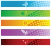 横幅五颜六色的集向量 免版税库存图片