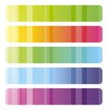 横幅五颜六色的集 库存图片