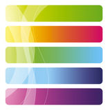 横幅五颜六色的集 免版税库存图片