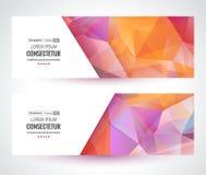横幅五颜六色的马赛克 模板 免版税库存图片