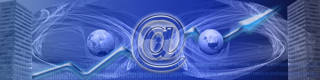 横幅企业互联网成功ww 皇族释放例证