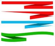 横幅企业编辑可能的格式集 免版税库存图片