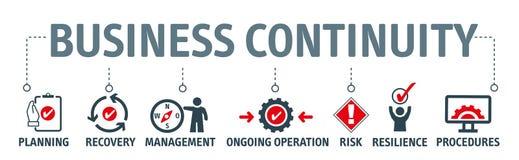 横幅企业连续性计划概念 皇族释放例证