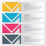 横幅传染媒介黄色,蓝色,桃红色颜色 库存例证