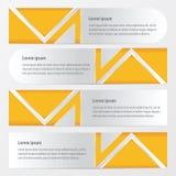 横幅传染媒介设计黄色颜色 向量例证