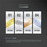 横幅传染媒介设计4项目金子,古铜,银,蓝色颜色 库存例证