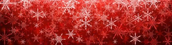 横幅例证红色雪花向量冬天 皇族释放例证