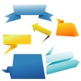 横幅例证origami集合向量 免版税库存照片