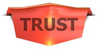 横幅信任 向量例证