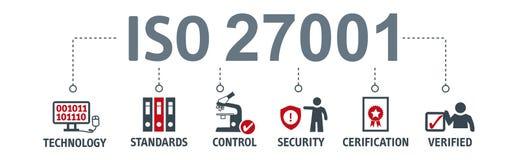 横幅信息保障标准27001 向量例证